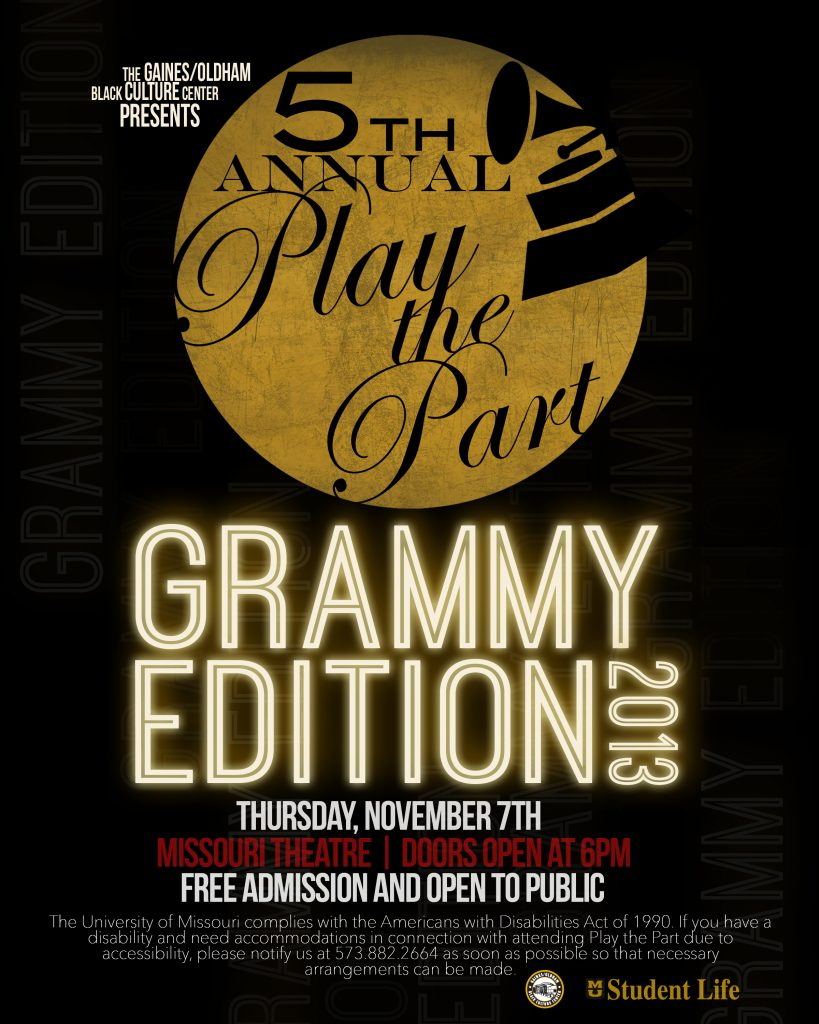 Play the Part Flyer